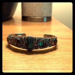 Green and blue bracelet